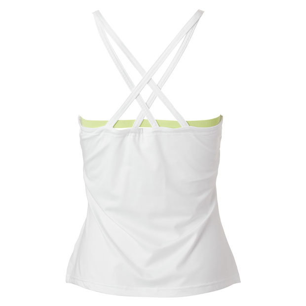 [휠라 여성용 Back Court 캐미 테니스 탱크] FILA Women`s Back Court Cami Tennis Tank - White