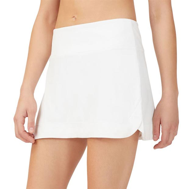 [휠라 여성용 Back Court A 라인 테니스 스커트] FILA Women`s Back Court A-Line Tennis Skirt - White