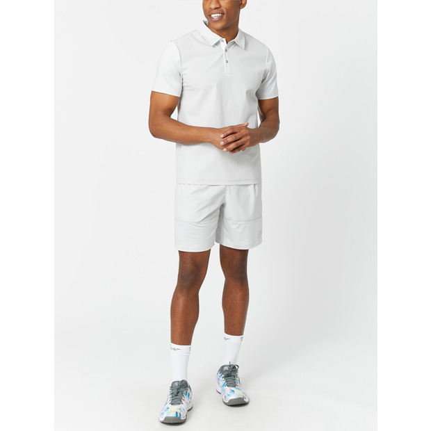 [휠라 남성용 Tie Breaker 반팔 테니스 폴로] FILA Men`s Tie Breaker Short Sleeve Tennis Polo - Glacier Grey