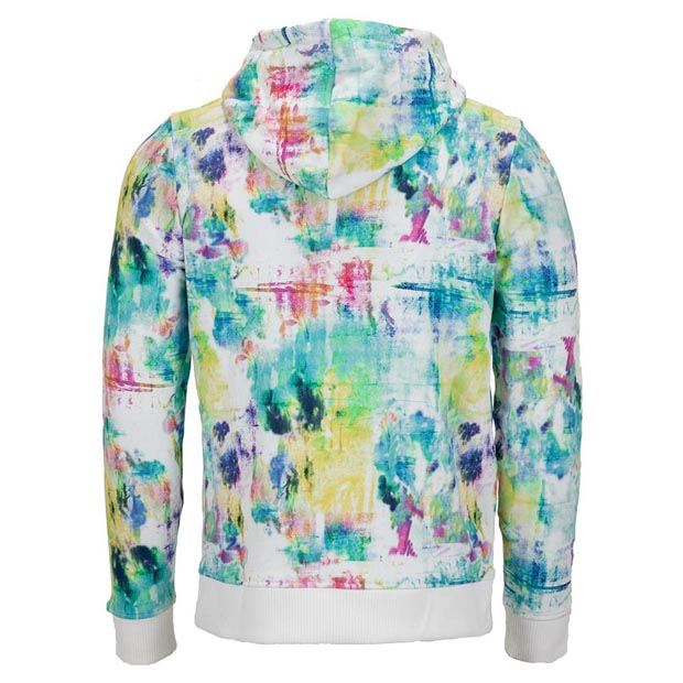 [휠라 남성용 Tie Breaker 프린트 테니스 후디] FILA Men`s Tie Breaker Printed Tennis Hoodie - Tie Dye and White