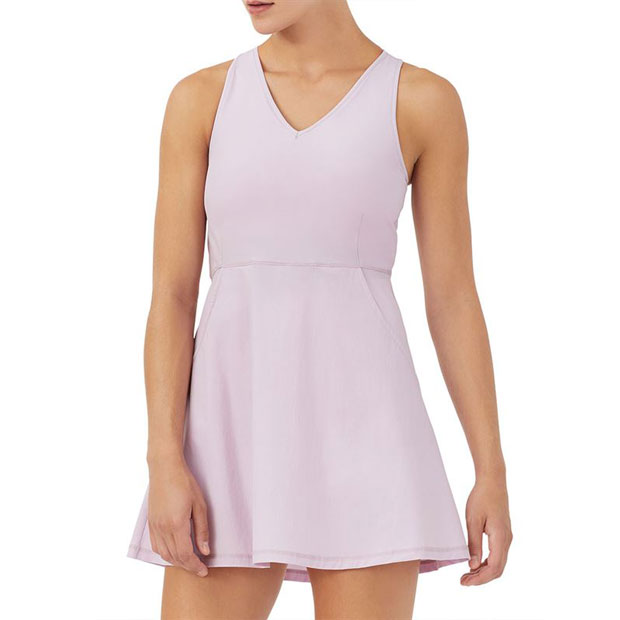 [휠라 여성용 Tie Breaker 테니스 드레스] FILA Women`s Tie Breaker Tennis Dress - Lavender Frost