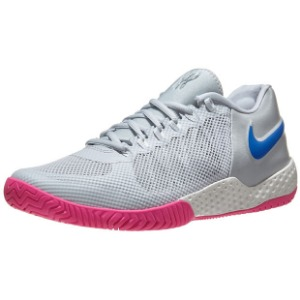 [나이키 여성용 코트 플레어 2 테니스화]NIKE Women`s Women`s Court Flare 2 Tennis Shoes - Pure Platinum and Racer Blue