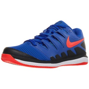 [나이키 남성용 에어 줌 베이퍼 10 테니스화]NIKE Men`s Air Zoom Vapor X Tennis Shoes - Racer Blue and Bright Crimson