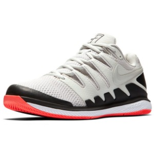 [나이키 남성용 에어 줌 베이퍼 10 테니스화]NIKE Men`s Air Zoom Vapor X Tennis Shoes - Light Bone and Black