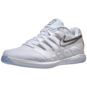 [나이키 남성용 에어 줌 베이퍼 10 테니스화]NIKE Men`s Air Zoom Vapor X Tennis Shoes - White and Metallic Summit