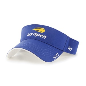 [US오픈 남녀 공용 테니스 바이저] US Open Cross Court Unisex Tennis Visor - Royal White