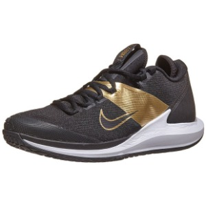 [나이키 남성용 코트 에어 줌 제로 테니스화] NIKE Men`s Court Air Zoom Zero Tennis Shoes - Black and Metallic Gold