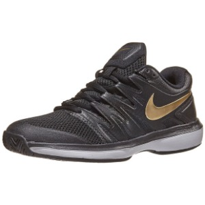[나이키 남성용 에어 줌 프레스티지 테니스화] NIKE Men`s Air Zoom Prestige Tennis Shoes - Black and Metallic Gold