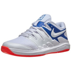 [나이키 쥬니어용 베이퍼 X 테니스화]NIKE Juniors` Vapor X Tennis Shoes - White and Game Royal