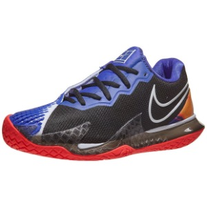 [나이키 남성용 에어 줌 베이퍼 케이지 4 테니스화] NIKE Men`s Air Zoom Vapor Cage 4 Tennis Shoes - Black and Laser Crimson
