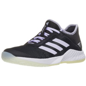 [아디다스 여성용 아디제로 클럽 2 테니스화] adidas Women`s Adizero Club 2 Tennis Shoes - Core Black and Purple Tint