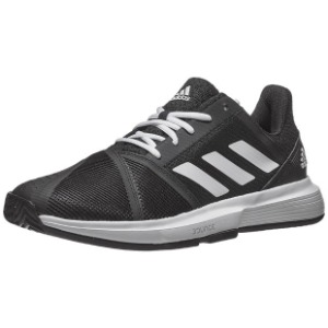 [아디다스 남성용 코트잼 바운스 테니스화] Adidas Men`s CourtJam Bounce Tennis Shoes - Core Black and White