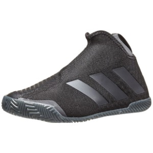 [아디다스 여성용 Stycon 클레이용 테니스화] adidas Women`s Stycon Clay Tennis Shoes - Core Black and Night Metallic