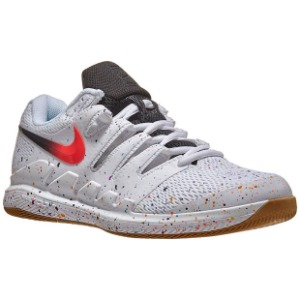 [나이키 남성용 에어 줌 베이퍼 10 테니스화] NIKE Men`s Air Zoom Vapor X Tennis Shoes - White and Laser Crimson