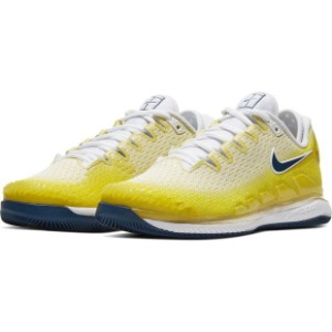 [나이키 여성용 에어 줌 베이퍼 X 니트 테니스화] NIKE Women`s Air Zoom Vapor X Knit Tennis Shoes - Opti Yellow and Bright Citron
