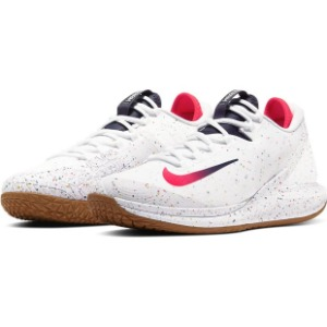 [나이키 남성용 코트 에어 줌 제로 테니스화] NIKE Men`s Court Air Zoom Zero Tennis Shoes - White and Laser Crimson