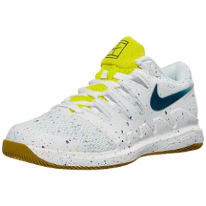 [나이키 여성용 에어 줌 베이퍼 X 테니스화] NIKE Women`s Air Zoom Vapor X Tennis Shoes - White and Valerian Blue