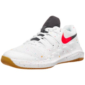 [나이키 쥬니어용 베이퍼 X 테니스화]NIKE Juniors` Vapor X Tennis Shoes - White and Laser Crimson