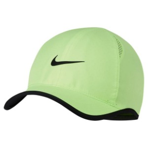 [나이키 남성용 페더라이트 테니스 모자] NIKE Men`s Featherlight Tennis Cap - Ghost Green w/ Black
