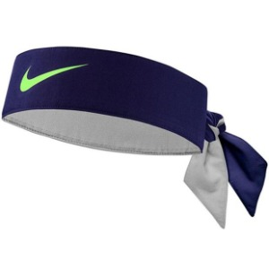 [나이키 테니스 헤드밴드] Nike Tennis Headband - Blackened Blue/Ghost Green