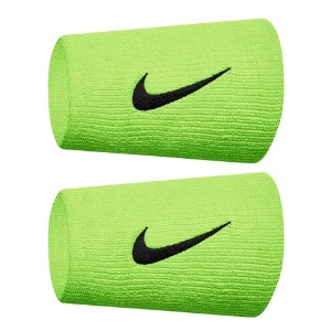 [나이키 프리미어 더블와이드 테니스 손목밴드] Nike Premier Doublewide Tennis Wristbands - Ghost Green/Obsidian