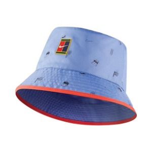 [나이키 남성용 코트 RG 프린트 리버시블 버킷 모자] NIKE Court RG All Over Print Reversible Bucket Hat - Royal Pulse