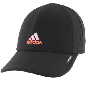 [아디다스 여성용 슈퍼라이트 테니스 모자] Adidas Women's SuperLite Tennis Hat - Black w/Signal Coral