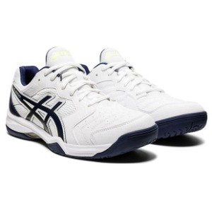 [아식스 남성용 젤-데디케이트 6 테니스화]ASICS Men`s Gel-Dedicate 6 Tennis Shoes - White and Peacoat