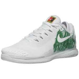 [나이키 남성용 에어 줌 베이퍼 X 니트 테니스화] NIKE Men`s Air Zoom Vapor X Knit Tennis Shoes - White and Clover