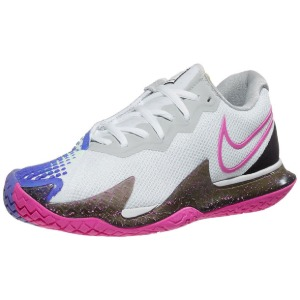 [나이키 여성용 에어 줌 베이퍼 케이지 4 테니스화] NIKE Women`s Air Zoom Vapor Cage 4 Tennis Shoes - White and Laser Fuchsia