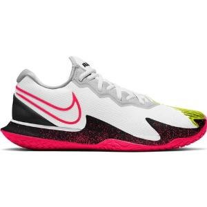 [나이키 남성용 에어 줌 베이퍼 케이지 4 테니스화] NIKE Men`s Men`s Air Zoom Vapor Cage 4 Tennis Shoes - White and Solar Red