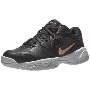 [나이키 여성용 코트 라이트 2 테니스화] NIKE Women`s Court Lite 2 Tennis Shoes - Black and Metallic Red Bronze