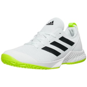 [아디다스 남성용 코트 컨트롤 테니스화] Adidas Men`s Court Control Tennis Shoes - Footwear White and Core Black