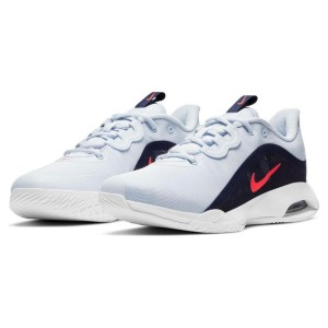 [나이키 여성용 에어 맥스 발리 테니스화] NIKE Women`s Air Max Volley Tennis Shoes - Football Grey and Bright Crimson