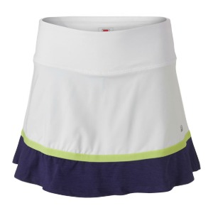 [휠라 여성용 Back Court 플레어 테니스 스커트] FILA Women`s Back Court Flare Tennis Skirt - White