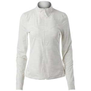 [휠라 여성용 Back Court 테니스 자켓] FILA Women`s Back Court Tennis Jacket - White Heather