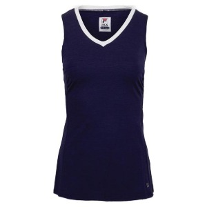 [휠라 여성용 Back Court 풀 커버리지 테니스 탱크] FILA Women`s Back Court Full Coverage Tennis Tank - Marlin Heather