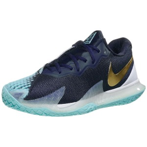 [나이키 남성용 에어 줌 베이퍼 케이지 4 테니스화] NIKE Men`s Men`s Air Zoom Vapor Cage 4 Tennis Shoes - Obsidian and Metallic Gold