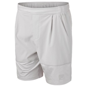 [휠라 남성용 Tie Breaker 테니스 반바지] FILA Men`s Tie Breaker Tennis Short - Glacier Grey
