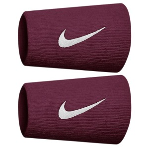 [나이키 프리미어 더블와이드 테니스 손목밴드] Nike Premier Doublewide Tennis Wristbands - Dark Beetroot/White